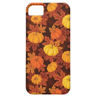 Funda Para iPhone SE/5/5s Modelo con las calabazas y el arce del otoño