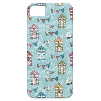 Funda Para iPhone SE/5/5s Modelo de las chozas y de las gaviotas de la playa