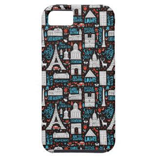 Funda Para iPhone SE/5/5s Modelo de los símbolos de Francia el |