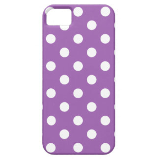 Funda Para iPhone SE/5/5s Modelo de lunar púrpura y blanco