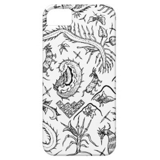 Funda Para iPhone SE/5/5s Modelo indonesio de la materia textil de los