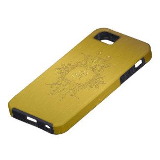Funda Para iPhone SE/5/5s Modelo-Monograma de aluminio cepillado tonos del