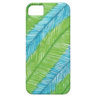 Funda Para iPhone SE/5/5s Modelo verde y azul de las hojas de palma