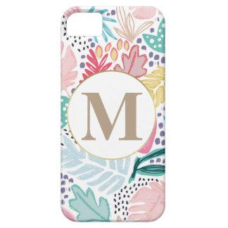 Funda Para iPhone SE/5/5s Modelo y monograma tropicales coloridos del