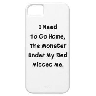 Funda Para iPhone SE/5/5s monstruo debajo de mi cama