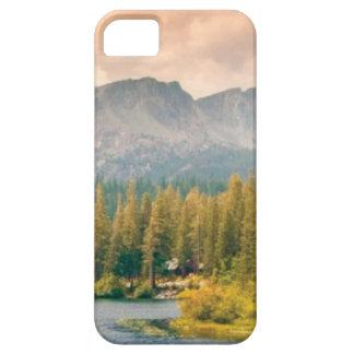 Funda Para iPhone SE/5/5s montaña y corriente de los árboles