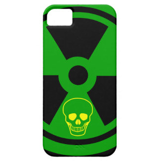 Funda Para iPhone SE/5/5s Muestra radiactiva de la precaución con el cráneo