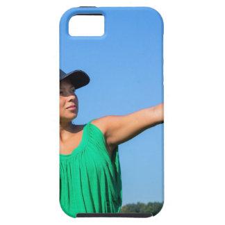 Funda Para iPhone SE/5/5s Mujer con del guante y del casquillo béisbol que