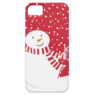 Funda Para iPhone SE/5/5s muñeco de nieve rojo y blanco contemporáneo