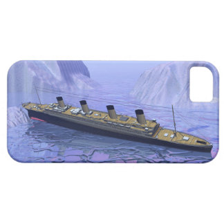 Funda Para iPhone SE/5/5s Nave titánica que se hunde - 3D rinden