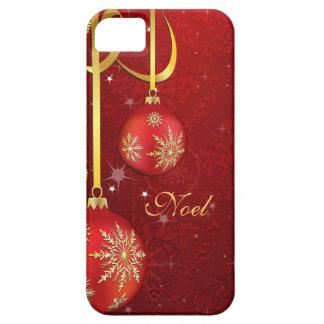 Funda Para iPhone SE/5/5s Navidad rojo del damasco