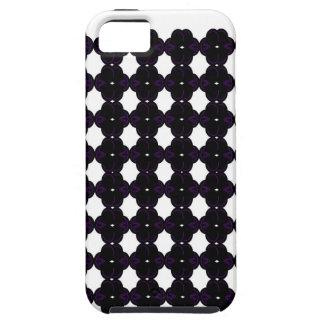 Funda Para iPhone SE/5/5s Negro del cordón en blanco