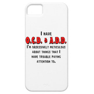 Funda Para iPhone SE/5/5s Negro/rojo de OCD-ADD
