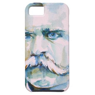 Funda Para iPhone SE/5/5s nietzsche de Friedrich - retrato de la acuarela