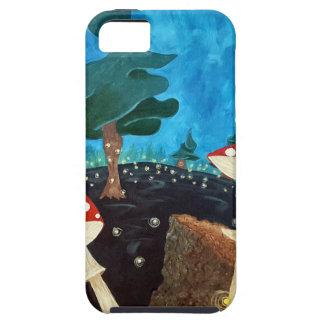 Funda Para iPhone SE/5/5s noche trippy en las maderas