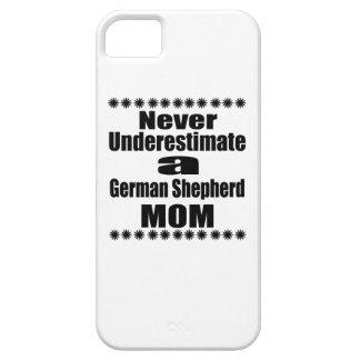 Funda Para iPhone SE/5/5s Nunca subestime a la mamá del pastor alemán