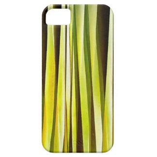 Funda Para iPhone SE/5/5s Ocre amarillo y líneas rayadas modelo de Brown