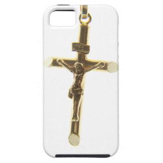 Funda Para iPhone SE/5/5s Oro cruzado del Jesucristo horizontal