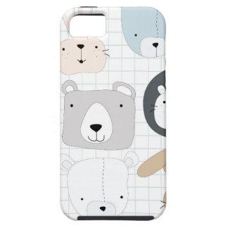 Funda Para iPhone SE/5/5s Oso, león y conejo animales lindos de peluche del