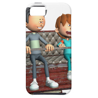Funda Para iPhone SE/5/5s Padre e hijo del dibujo animado en una noria