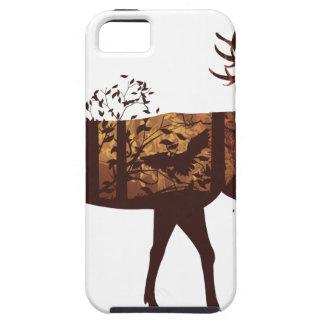 Funda Para iPhone SE/5/5s Paisaje y ciervos 2 del bosque del otoño