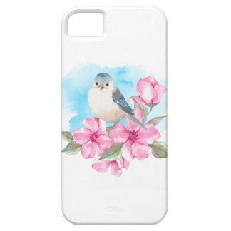Funda Para iPhone SE/5/5s Pájaro blanco. Primavera de la acuarela