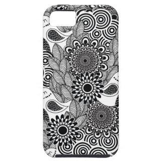 Funda Para iPhone SE/5/5s pájaros blancos y negros tropicales