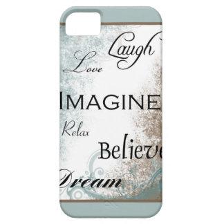 Funda Para iPhone SE/5/5s Palabras a vivir por el caso del iPhone 5