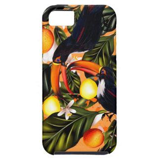 Funda Para iPhone SE/5/5s Paraíso tropical. Toucans y fruta cítrica