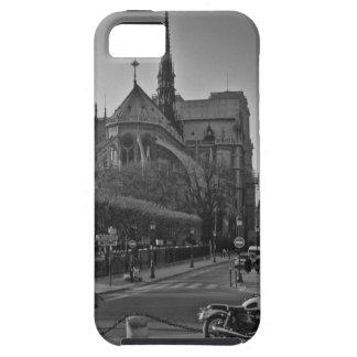 Funda Para iPhone SE/5/5s París negra y blanca Notre Dame