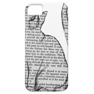 Funda Para iPhone SE/5/5s pegatina del libro de lectura del gato