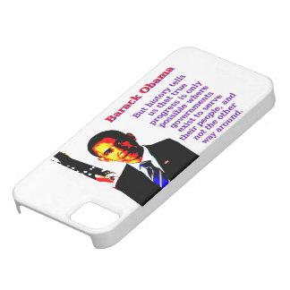Funda Para iPhone SE/5/5s Pero la historia nos dice eso - Barack Obama