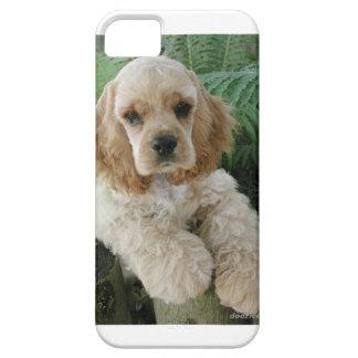 Funda Para iPhone SE/5/5s Perro de cocker spaniel del americano y el helecho