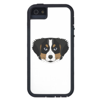 Funda Para iPhone SE/5/5s Perro de montaña de Bernese del ilustracion