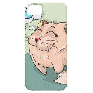 Funda Para iPhone SE/5/5s Pescados animales del gato que piensan al mascota