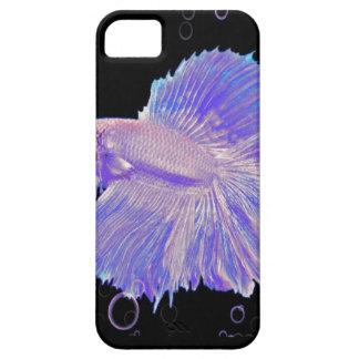 Funda Para iPhone SE/5/5s Pescados que luchan púrpuras iridiscentes