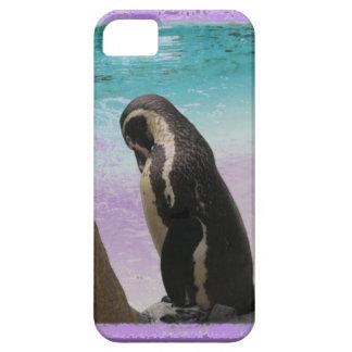 Funda Para iPhone SE/5/5s Pingüino púrpura Phonecase de la frontera