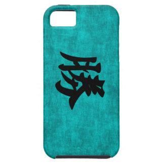 Funda Para iPhone SE/5/5s Pintura del carácter chino para el éxito en azul