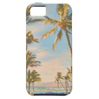 Funda Para iPhone SE/5/5s Playa del hawaiian del vintage de PixDezines