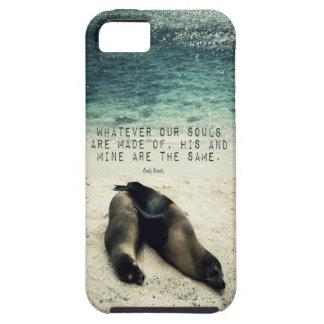 Funda Para iPhone SE/5/5s Playa romántica Emily Bronte de la cita de los