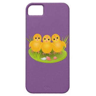 Funda Para iPhone SE/5/5s Polluelos amarillos felices de Pascua en hierba