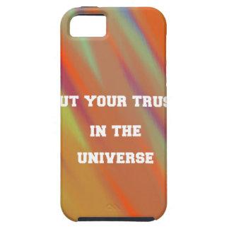 Funda Para iPhone SE/5/5s Ponga su confianza en el universo