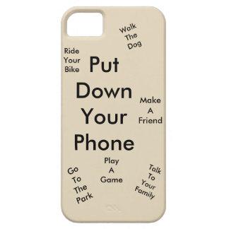 Funda Para iPhone SE/5/5s Ponga su teléfono en el suelo