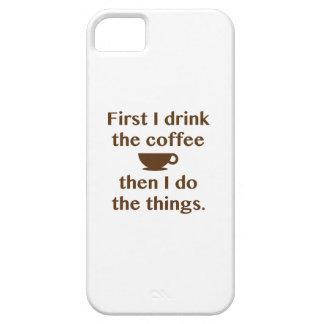 Funda Para iPhone SE/5/5s Primero bebo el café