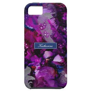 Funda Para iPhone SE/5/5s Púrpura dramática del extracto de las tintas