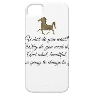 Funda Para iPhone SE/5/5s ¿Qué usted quiere unicornio?