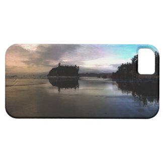 Funda Para iPhone SE/5/5s Reflexión de rubíes de la puesta del sol de la