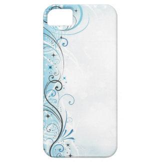 Funda Para iPhone SE/5/5s remolinos y estrellas del case=blue del protector