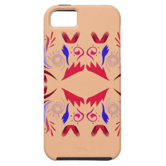 Funda Para iPhone SE/5/5s Rojo beige de Ethno de los elementos del diseño