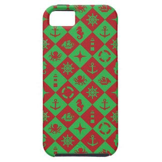Funda Para iPhone SE/5/5s Rojo y verde náuticos